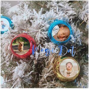 Kerstbal met foto MagicDat